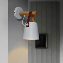 Nordic Loft LED Wall Lamps Modern Wooden Art Lamp Cafe Bar Decoration Light Luminaire Living Room Bathroom Lights
