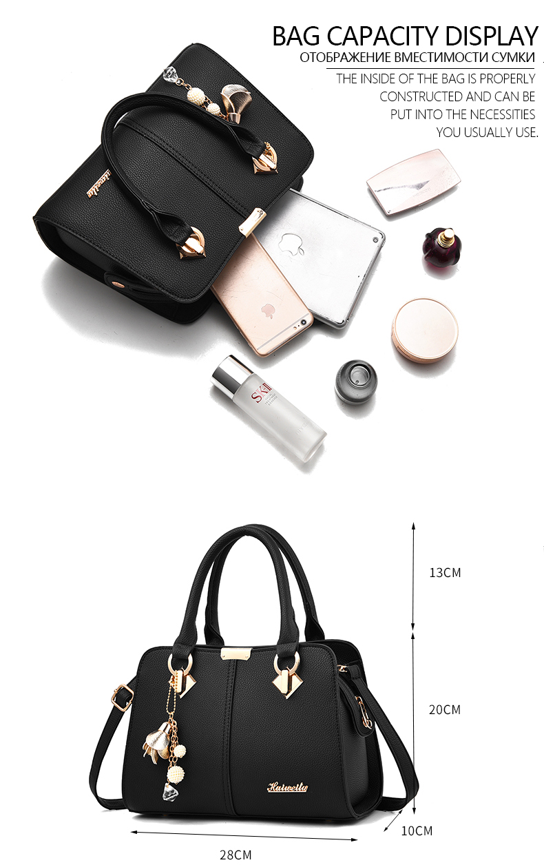 Designer Brand Bags Ladies Leather Tote Bag 2020 Luxury Ladies Handbag Wallet Fashion Shoulder Bag 5