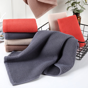 Image 3 - Beroyal Brand 1PC 100% Cotton Hand Towels for Adults Plaid Hand Towel Face Care Magic Bathroom Sport Waffle Towel 33x72cm