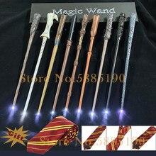 22 вида светильник Волшебная палочка Малфой Voldmort Дамблдор затравленные волшебную палочку с подарочной коробке упаковки Gryffindo галстук-бабоч...