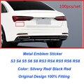 Wholesale 100pcs/lot Auto 3D Metal Emblems Car emblem body sticker for A1 A2 A3 A4 A5 A6 A7 A8 Q1 Q3 Q5 Q7 Car Styling