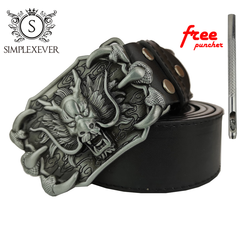 Chinese Style Dragon Belt Buckle Brand New Western Animal Belt Buckle With Good Plating With PU Belt Drop Shipping