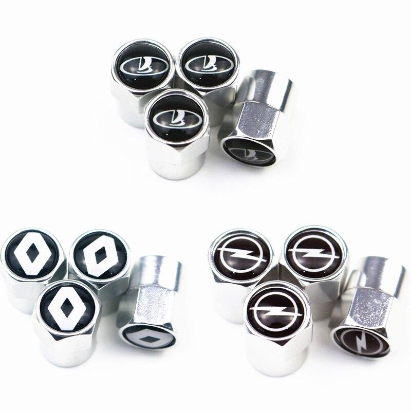 4 pçs nova roda de metal tampas da válvula do pneu haste caso para opel lada honda renault hyundai vw benz chevrolet audi bmw acessórios do carro