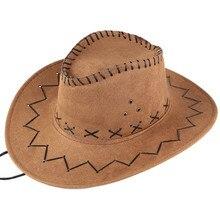 Unisex Men&Women's Cowboy Hat Wide Brim Solid Color Caps For Gentleman Casual Travel Fancy Party Male Female Cowgirl Hats Cap