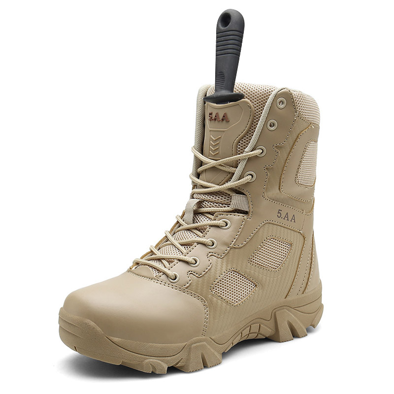 Big Size 39-47 Desert Tactical Mens Boots Wear-resisting Army Boots Man Waterproof Outdoor Sneakers Men Combat Ankle Boots