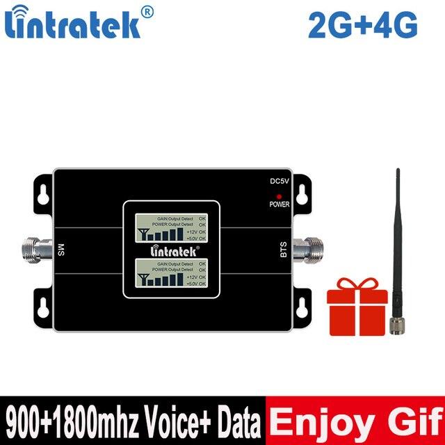 Lintratek 2G 4G GD 900 Cellular Amplifir GSM 1800 LTEโทรศัพท์มือถือBooster 2G 4G 65dB dual BandสัญญาณBooster KW17Lเครื่องขยายเสียง