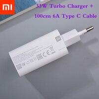Caricabatterie 33W originale Xiaomi MDY-11-EZ EU Turbo Charge 1M tipo C cavo per Xiaomi Redmi Note 9 Pro Max POCO X3 NFC Mi 10 10T Pro