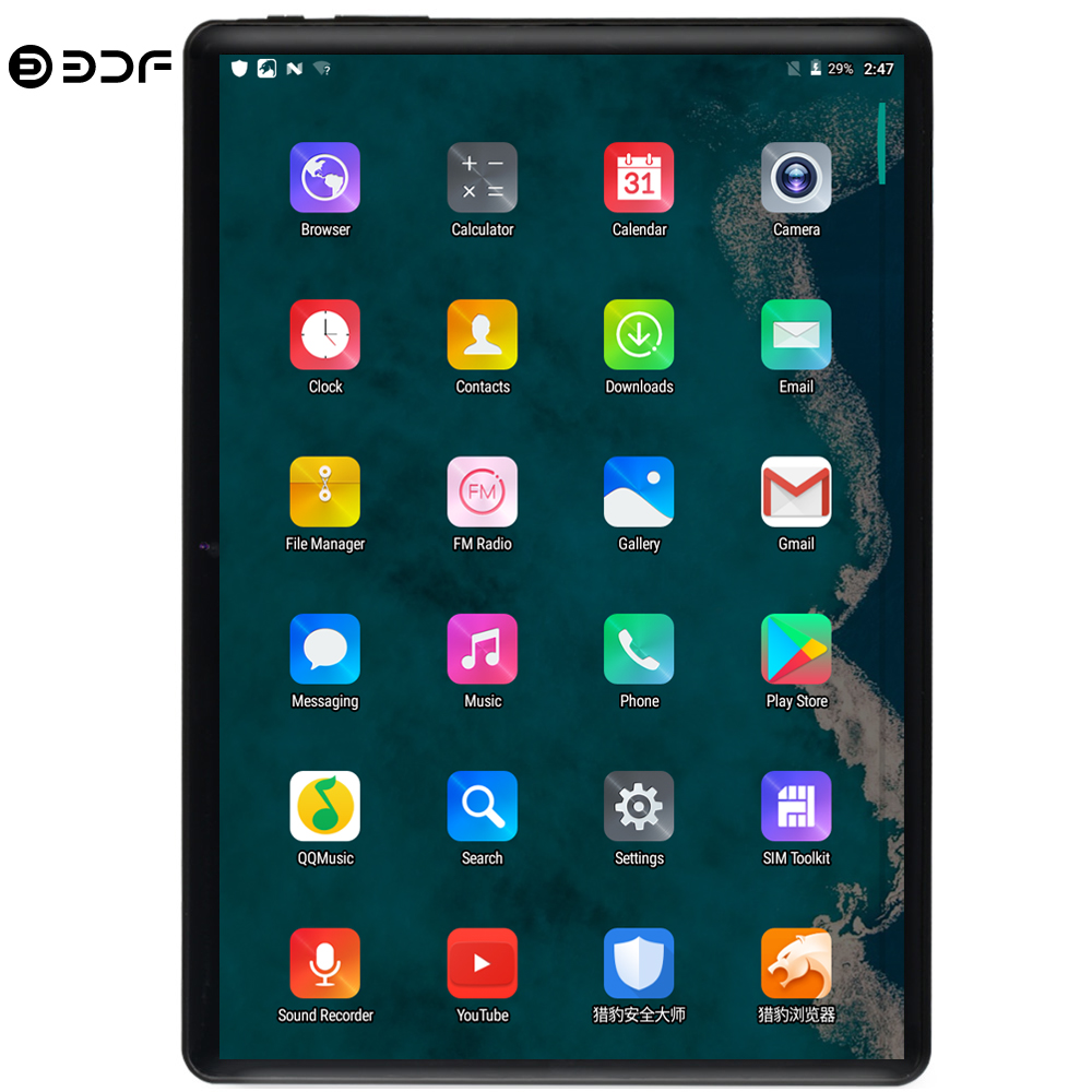 BDF 10 Inch Tablet Pc 3G/4G LTE Android 9.0 10/Ten Core Super Tablets RAM 8GB ROM 128GB WiFi Dual SIM 1280*800 IPS Tablet 10.1