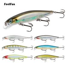 Buy FeelFun 1PC Minnow Fishing Lures 13g 110mm peche en mer leurre peche Sinking Fishing Wobblers Lure with BKK hooks directly from merchant!