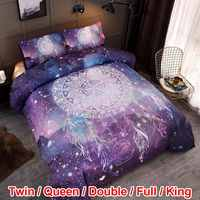 Purple Wind Chimes Pattern Kids Bed Cover Set Duvet Cover Adult and Pillowcases Comforter Bedding Set For US CA EU AU Size