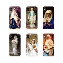 For Apple iPhone X XR XS 11Pro MAX 4S 5S 5C SE 6S 7 8 Plus ipod touch 5 6 Retro Vintage Art Statue Virgin Maria Soft Case Covers(China)