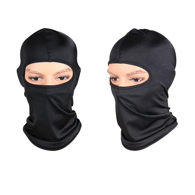 Black Face Mask Motorcycle Balaclava Tactical Face Shield Mascara Ski Mask Cagoule Visage Full Face Mask Gangster Mask 3