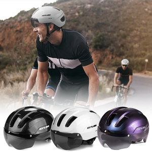GUB Bicycle Helmets Integrally Molded Cycling Helmets with Detachable Magnetic Goggles Mountain Road Bike Riding Safety Helmet