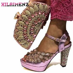Image 5 - คุณภาพสูงสีดำแอฟริกัน Designer รองเท้าและกระเป๋าชุด Match ภาษาอิตาเลี่ยนรองเท้าพร้อมกระเป๋าชุด