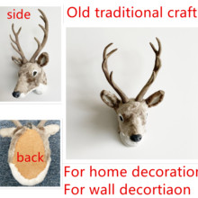 free shipping father day present house decor wall hanging animal head wall decor deer head home ornament