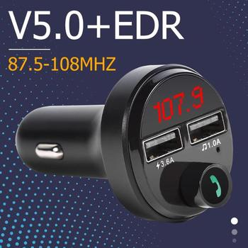 A165 Bluetooth FM Transmitter Handsfree Car Kit MP3 Player 3.6A Dual USB Charger Can Display Current Automobile Battery Voltage image