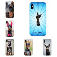 For Galaxy Alpha Note 10 Pro A10 A20 A20E A30 A40 A50 A60 A70 A80 A90 M10 M20 M30 M40 Lovely Plastic Funny Dachshund Doberman(China)