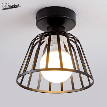 Nordic Minimalist LED Ceiling Lamp Lighting Modern Wrought Iron Corridor Ceiling Lights Restaurant Staircase Decorative Lamps