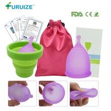 Health Care Menstrual Cup Silicone Vagina Cup Copa Menstrual Sterilizing cup with Cloth bag Feminine Hygiene Sterilizer Lady Cup недорого