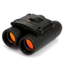 30x60 Red Film High-power Binoculars Portable Mini-telescope Military Telescope Telescopio High Quality Free Shipping