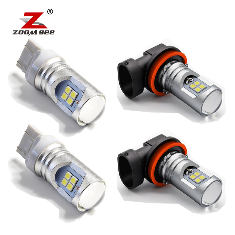 12pcs Front <font><b>rear</b></font> turn signal fog <font><b>LED</b></font> light <font><b>LED</b></font> tail light reverse brake <font><b>bulb</b></font> kit For Nissan X Trail x-trail T30 2001-2007 image