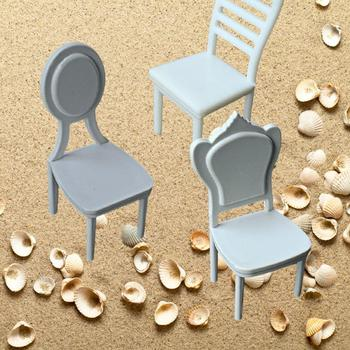 1/20, 1/25 Building Sand Table Indoor Furniture Model Material Lounge Model DIY Mini Chair Dining Chair A2Q0 image