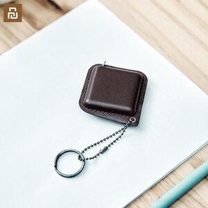 Image 4 - Smartfern1985 순수한 소 가죽 휴대용 통치자는 작고 편리합니다. 나일론 샌드위치 테이프