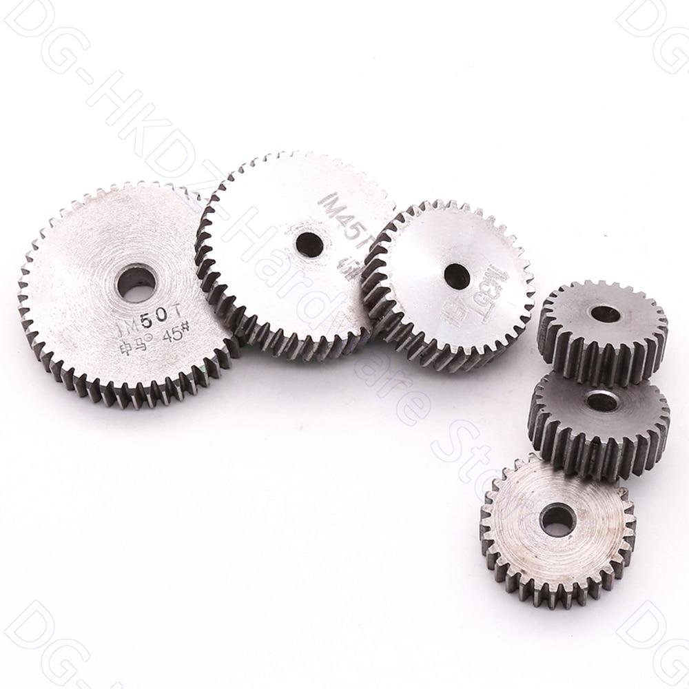 1M Spur Gear 12T-27T Metal Transmission Gear 45# Steel Thick 10mm Pinion 1 Mod 12 13 14 15 16 17 18 19 20 21-27 Teeth 1/2/5pcs