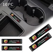 4/10 pçs 3d estilo do carro resina epóxi emblema adesivo decalques para fiat viaggio abarth punto 124 125 500 acessórios automóveis
