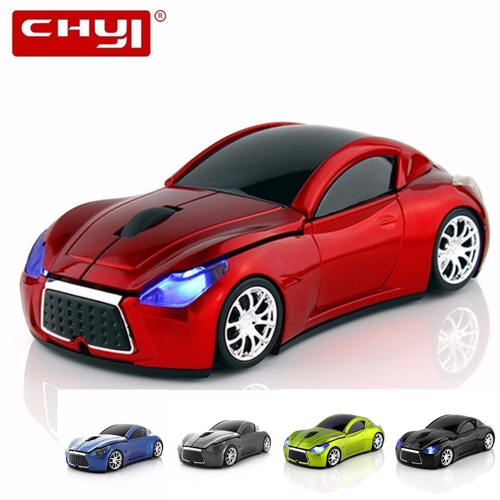 Wireless Computer Car Shape Mouse Mini 3D Ergonomic PC Gamer Mause Optical Usb Kids Gift LED Gaming Auto Mice For Laptop Macbook