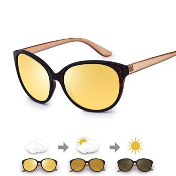Cat Eye Night Vision Glasses Women Anti-Glare Lens Yellow Polarized Sunglasses Driving Night Vision Goggles Car Vision Nocturna car driver goggles anti uva polarized sun glasses driving night vision lens clip on sunglasses interior accessories