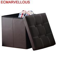 Aluminio Escalera Plegable osmanlı Krukje Mueble Vintage sandalye Taburet Moderno Pu deri çocuk mobilyası puf Poef depolamalı tabure