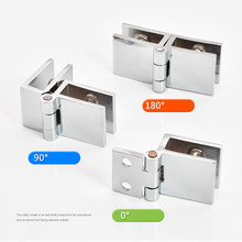 2 PCS Cabinet Glass Door Hinges Wine Door Hinges Glass Hinges hardware Suitable for glass thickness 5-8mm. 90/180/0 degree 67mm 26mm 5 90 degree 94% transmittance glass optic
