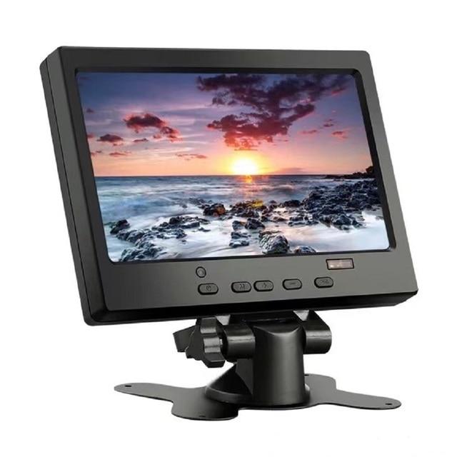 Free Shipping 7 inch  Widescreen HD 1024 * 600 Small LCD Monitor with AV / VGA / HDMI-Compatible Mini Desktop LCD Monitor 6