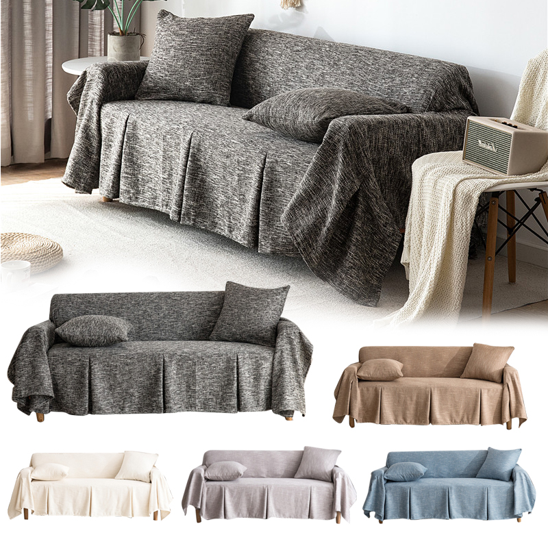 1 2 3 Seater Sofa Cover Cotton Linen Furniture Protector Couch