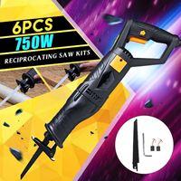 220 v 750 w elétrica reciprocating saw com lâminas de serra de carregamento portátil sem fio motosserra para ferramentas elétricas madeira diy Serras elétricas    -