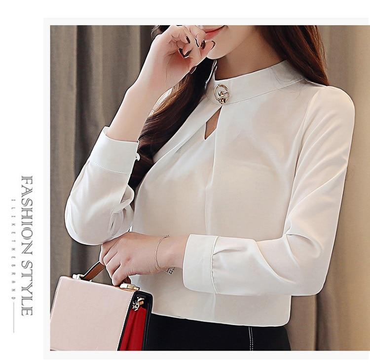 fashion woman blouses 2020 long sleeve chiffon blouse shirt long sleeve women shirts womens tops and blouses blusas femininas 10
