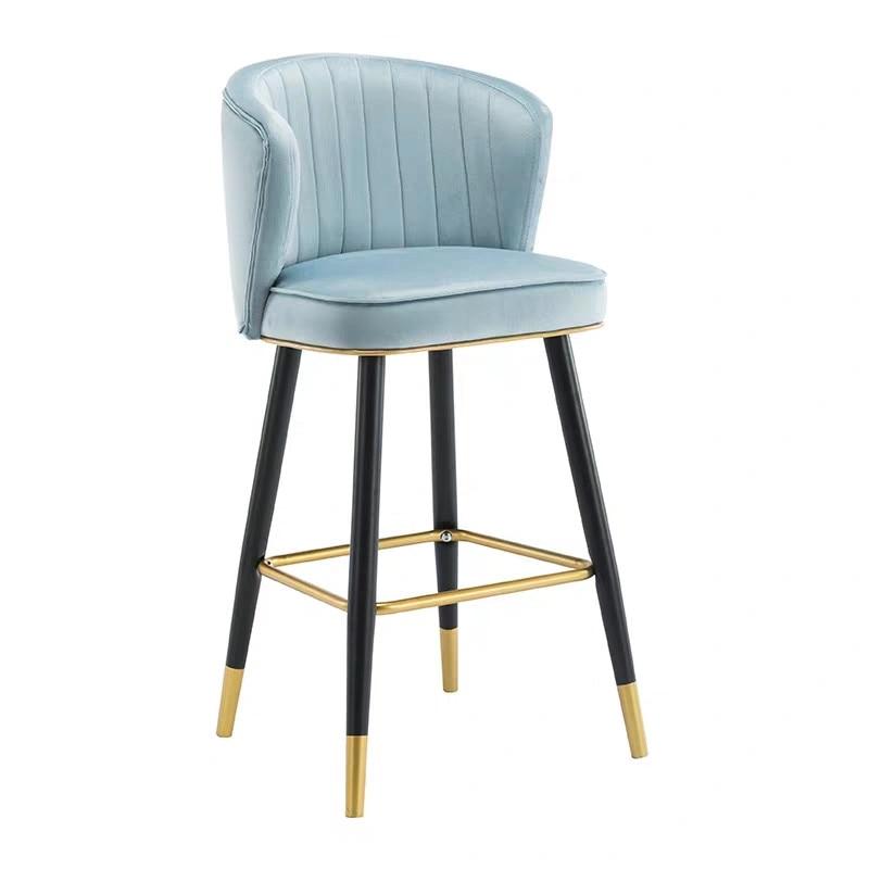 Bar Chair Light Luxury Postmodern Minimalist Hotel Front Desk High  Back Bar Stool Island Table  Height 55cm65cm