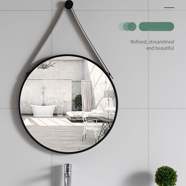 Hanging Mirror Wall Espejo Home Decor Makeup Mirror Spiegel For Bathroom Living Room Makeup Round Mirrors For Women Макияж