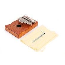 Musical-Instrument Kalimba Mahogany Tuning-Tool Thumb-Piano Finger-Percussion Wood Music-Lover-Accessories