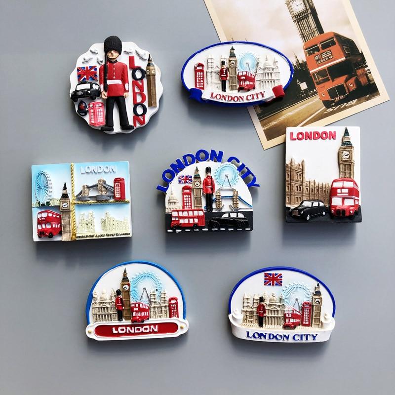Country Fridge Magnets UK London Building Fridge Magnet Sticker World Travel Souvenir Magnetic Magnet Birthday Gift(China)