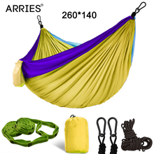 Hiking Camping 260*140cm Hammock Portable Nylon Safety Parachute Hamac Hanging Chair Swing Outdoor Double Person Leisure Hamak