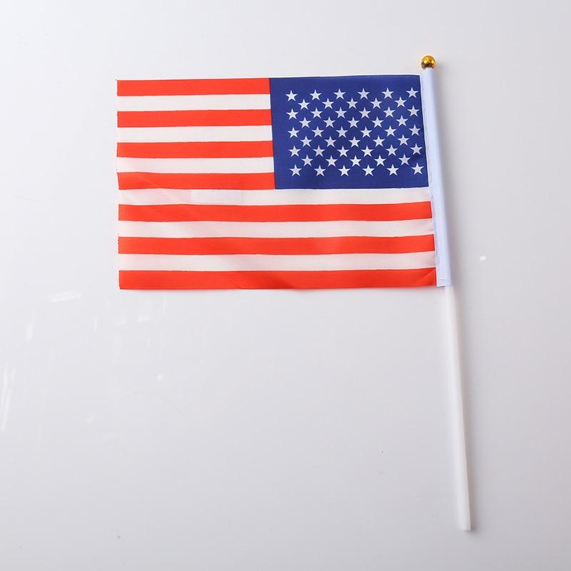Canadian Flag Brazilian Flag Spanish Flag Italian Flag Print Stripes Fashion 30.5*21*0.5cm Terylene Nylon Nationalflag National - Цвет: United States