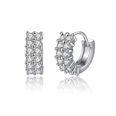 Fashion Glamour Women's Earrings With Diamonds Round AAA Zircon Jewels, Engagement Jewels, Ladies' Gifts Fine Jewellery Jewellery & Watches Women's Fashion