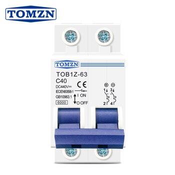 PV Solar DC MCB 6KA 1P 250V Mini Circuit Breaker 6A 10A 16A 25A 32A 40A 50A 63A