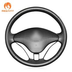 MEWANT-funda para volante de cuero genuino, color negro, para Mitsubishi Pajero 2008 2009 2010 2011 V73 2011 L200