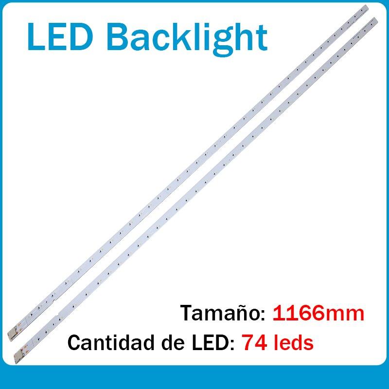 1166mm LED Tira De Luz De Fondo 74 Lámpara Para For Samsung Led Backlight Tira De Luz De Fondo De 55