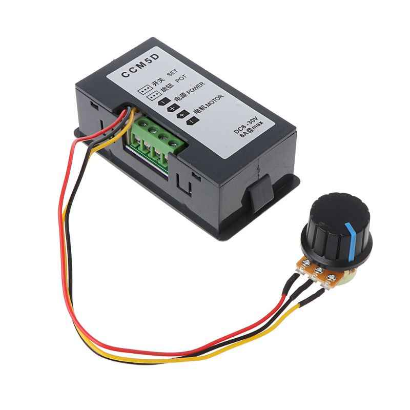 DC 6-30V 12V 24V 15A Max PWM Motor Speed Controller With Digital Display