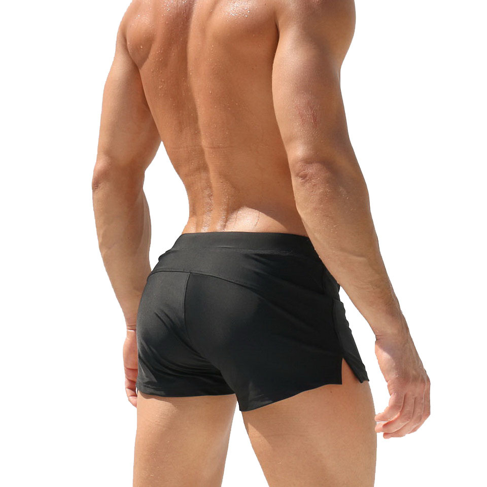 MEN'S Swimming Trunks Europe And America Fashion Boxer Swimming Trunks Beach Swimsuit Front Pocket Swimming Trunks