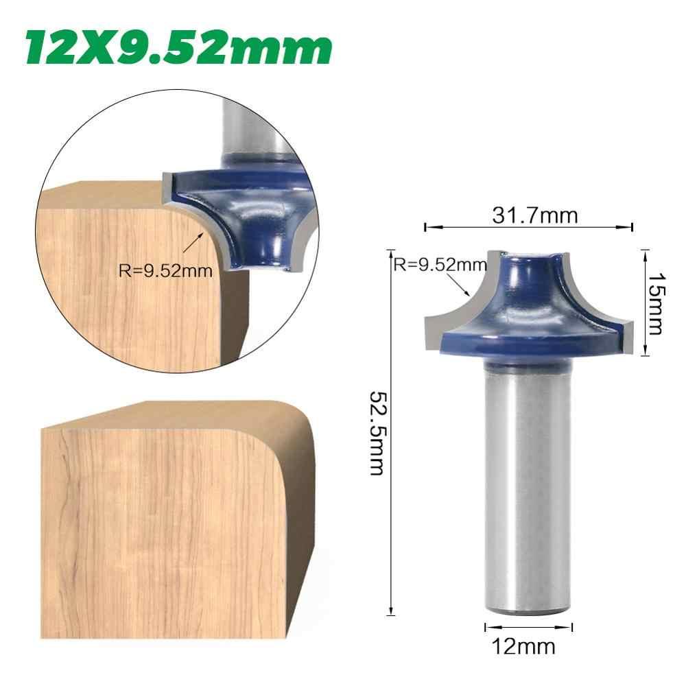 """1 pc 1/2 """"haste 12mm haste redonda de alta qualidade sobre roteador bit conjunto 3/8, 1/2, 7/8, 3/4, raio tenon cortador para ferramentas para trabalhar madeira"""